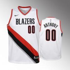 Enfants Portland Trail Blazers Carmelo Anthony Association Blanc Maillot