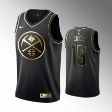 Denver Nuggets Nikola Jokic Noir Golden Édition Maillot