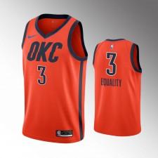 Hommes Oklahoma City Thunder Chris Paul Gagné Orange Equality Maillot