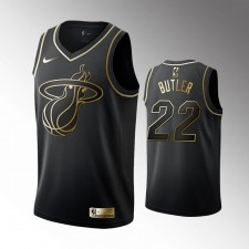 Miami Heat Jimmy Butler Noir Golden Édition Maillot