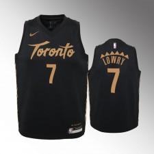 Enfants Raptors de Toronto Kyle Lowry City Noir Maillot