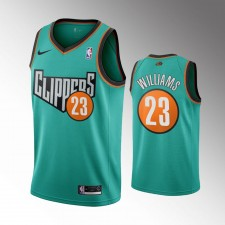 Les Clippers de Los Angeles masculins Lou Williams Retour au maillot vert de la route 1993