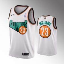 Les Clippers de Los Angeles masculins Lou Williams Retour au maillot blanc 1993