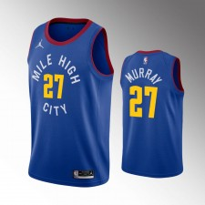 Les Denver Nuggets masculins Jamal Murray Déclaration Maillot Bleu