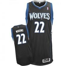 NBA Andrew Wiggins Authentic Men's Black Jersey - Adidas Minnesota Timberwolves &22 Alternate
