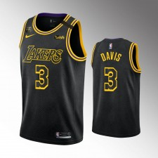 Les Lakers de Los Angeles hommes Anthony Davis City Noir Honore le maillot authentique Kobe
