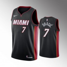 Hommes Miami Heat Goran Dragic Icon Noir Lives Matter Maillot