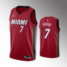 Hommes Miami Heat Goran Dragic Déclaration Rouge Maillot