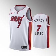 Hommes Miami Heat Goran Dragic Justice 2020 Playoffs G2 Blanc Égalité Maillot