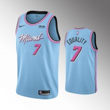 Hommes Miami Heat Goran Dragic ViceWave City Bleu Égalité Maillot