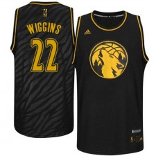 NBA Andrew Wiggins Authentic Men's Black Jersey - Adidas Minnesota Timberwolves &22 Precious Metals Fashion