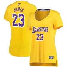 LeBron James Los Angeles Lakers Fanatics Branded Femmes 2020 NBA Finals Bound Fast Pause Réplique Maillot Jaune