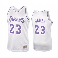 Los Angeles Lakers LeBron James Platinum Hardwood Classiques Maillot