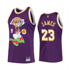 LA Lakers LeBron James Diamond Supply Co. x Espace Jam x NBA Violet Maillot