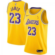 Nike LeBron James Finals Champions Los Angeles Lakers Or Swingman Maillot - Édition Icône