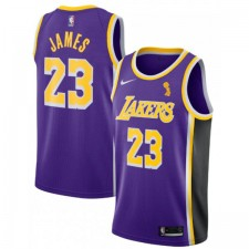 Nike LeBron James Finals Champions Los Angeles Lakers Violet Réplique Swingman Maillot - Édition Déclaration