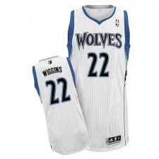 NBA Andrew Wiggins Authentic Men's White Jersey - Adidas Minnesota Timberwolves &22 Home