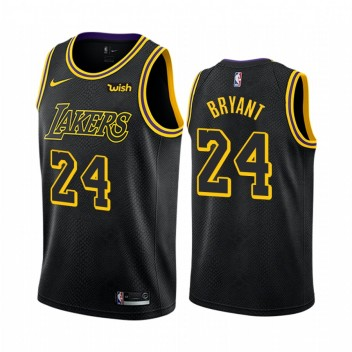Mamba Forever Kobe Bryant Los Angeles Lakers Noir City  Maillot