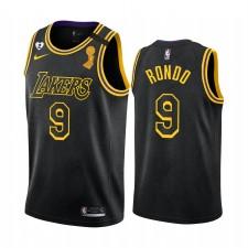 Los Angeles Lakers Rajon Rondo 2020 NBA Finals Champions Maillot Noir Mamba Inspiré