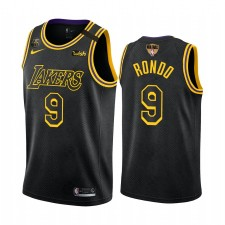 Rajon Rondo Los Angeles Lakers 2020 Occidentale Conference Conférence Noir Maillot Mamba Inspiré