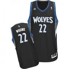 NBA Andrew Wiggins Swingman Men's Black Jersey - Adidas Minnesota Timberwolves &22 Alternate