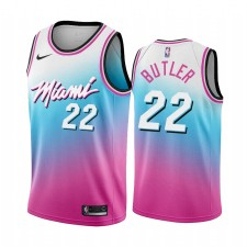 Jimmy Butler Miami Heat Bleu Pick City Édition Vice 2020-21 Maillot