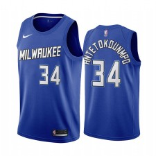 Giannis Antetokounmpo Milwaukee Bucks Navy City Édition Nouveau Uniforme 2020-21 Maillot