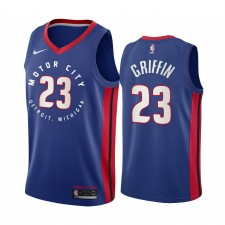 Blake Griffin Detroit Pistons Navy Motor City Édition 2020-21 Maillot