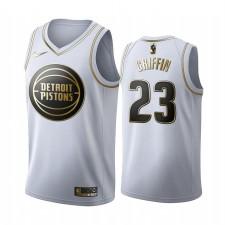 Blake Griffin Detroit Pistons Blanc Golden Édition Maillot