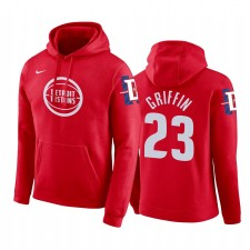 Detroit Pistons Blake Griffin Rouge City Chandails Capuche