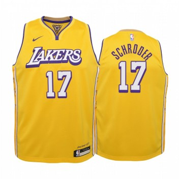 Dennis Schroder Los Angeles Lakers Enfants Or Icon Édition Maillot 2020 Commerce