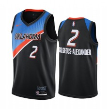 Shai Gilgeous-Alexander Oklahoma City Thunder 2020-21 Noir Ville Édition Maillot Joueur