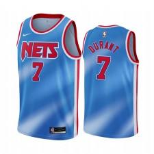 Kevin Durant Brooklyn Nets Blue Classique Édition Nouvel uniforme 2020-21 Maillot
