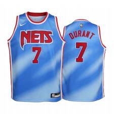 Brooklyn Nets Kevin Durant 2020-21 Hardwood Classiques Bleu Enfants Maillot