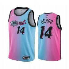 Tyler Herro Miami Heat Bleu Choisir City Édition Vice 2020-21 Maillot