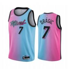 Goran Dragic Miami Heat 2020-21 Bleu Rose Ville Maillot Arc-en-ciel