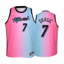Miami Heat Goran Dragic 2020-21 Ville Bleu Rose Enfants Maillot - Arc-en-ciel