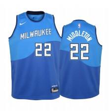 Milwaukee Bucks Khris Middleton 2020-21 Ville Vert Enfants Maillot