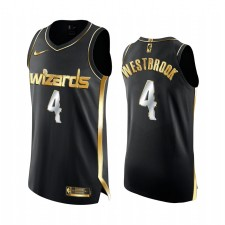 Maillot Russell Westbrook Washington Wizards 2020-21 Noir Golden Édition Authentique Limitée