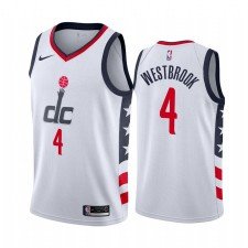 Russell Westbrook Washington Wizards Blanc Ville Maillot Commerce