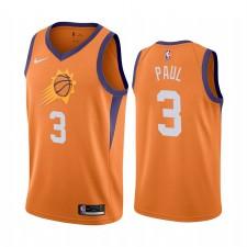 Chris Paul Phoenix Suns 2020-21 Orange Statement Édition Maillot 2020 Commerce