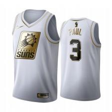 Chris Paul Phoenix Suns 2020-21 Blanc Golden Édition Maillot 2020 Commerce
