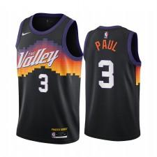 Chris Paul Phoenix Suns 2020-21 Noir Ville Édition Maillot