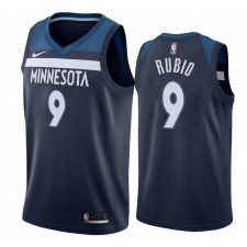 Ricky Rubio Minnesota Timberwolves Navy Icon Hommes Maillot