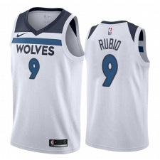 Ricky Rubio Minnesota Timberwolves Blanc Association Maillot Homme
