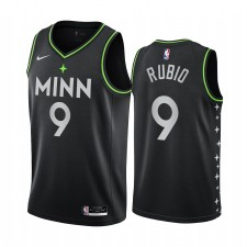 Minnesota Timberwolves Ricky Rubio Noir City Edition Maillot Joueur