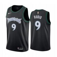 Ricky Rubio Minnesota Timberwolves 2021-22 Noir Classique Maillot
