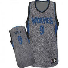 NBA Ricky Rubio Authentic Men's Grey Jersey - Adidas Minnesota Timberwolves &9 Static Fashion