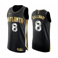 Atlanta Hawks Danilo Gallinari Noir Edition Golden Authentique Limited Maillot 2020-21