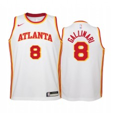Atlanta Hawks Danilo Gallinari Association Edition Blanc Enfants Maillot & 8